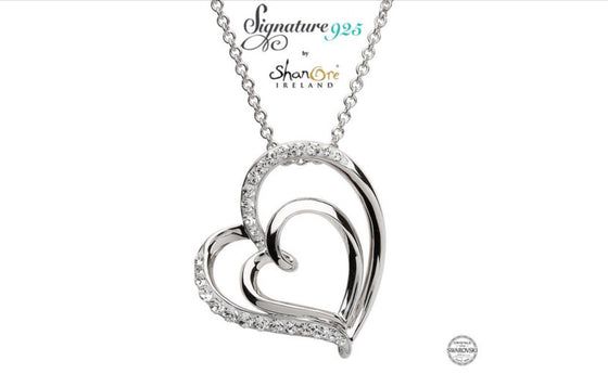 Signature 925 - Heart Pendant with Swarovski Crystals