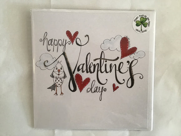 Happy Valentine's Day hand finished card