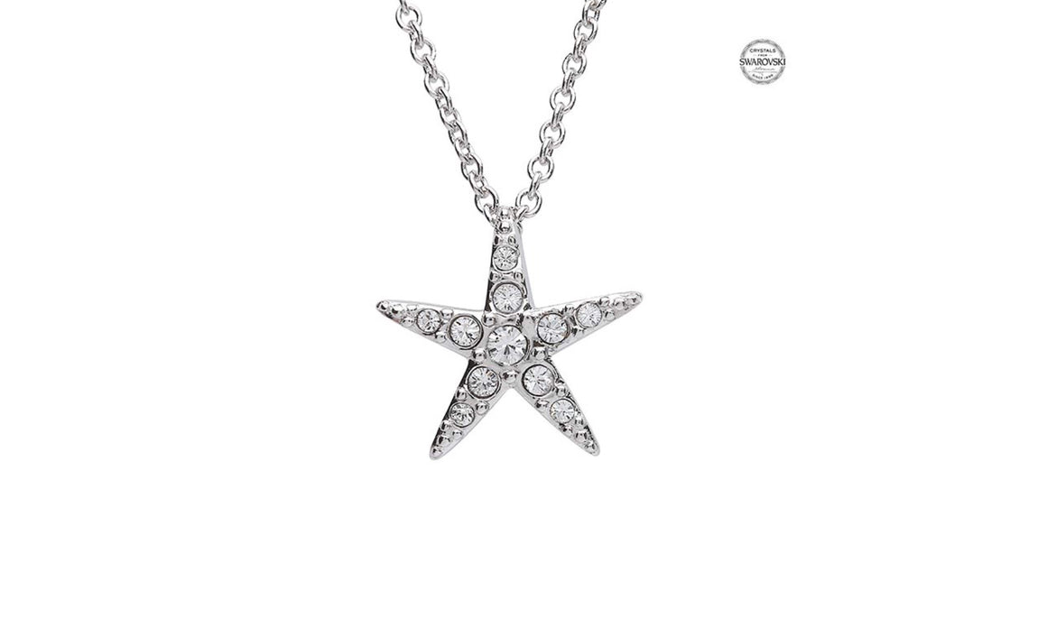 Starfish Pendant With Clear Swarovski® Crystals