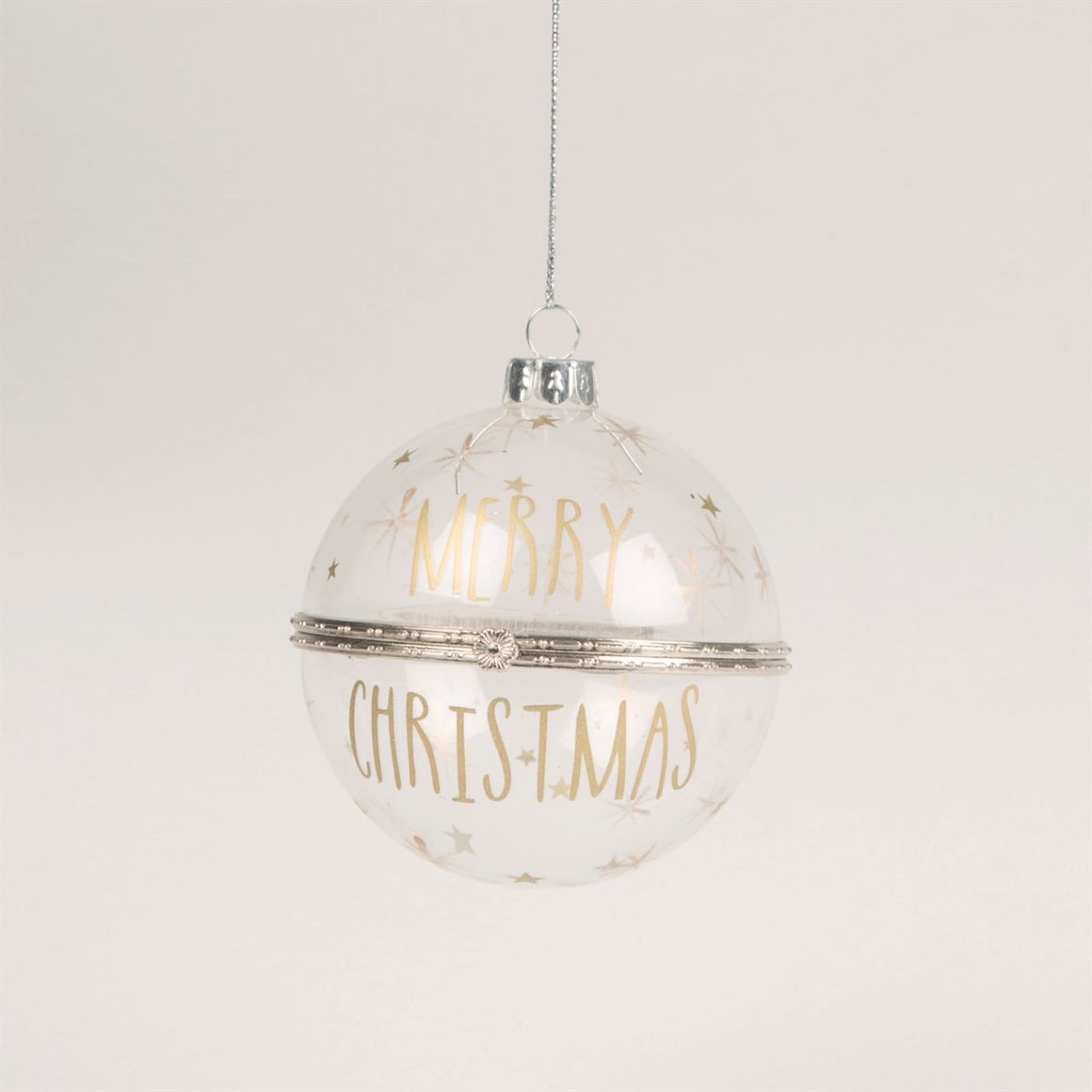Merry Christmas Clear Trinket Bauble