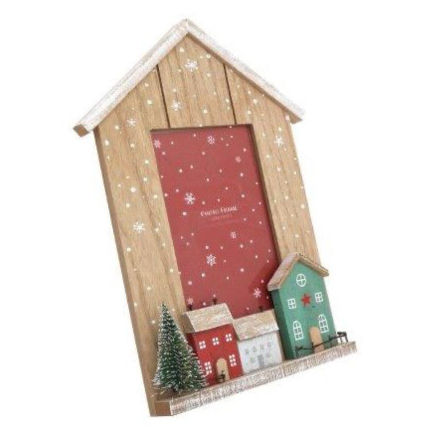 Festive Houses Picture Frame