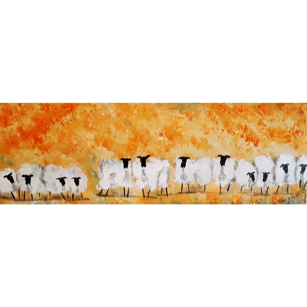 Orange Blossom Sheep - Original Painting