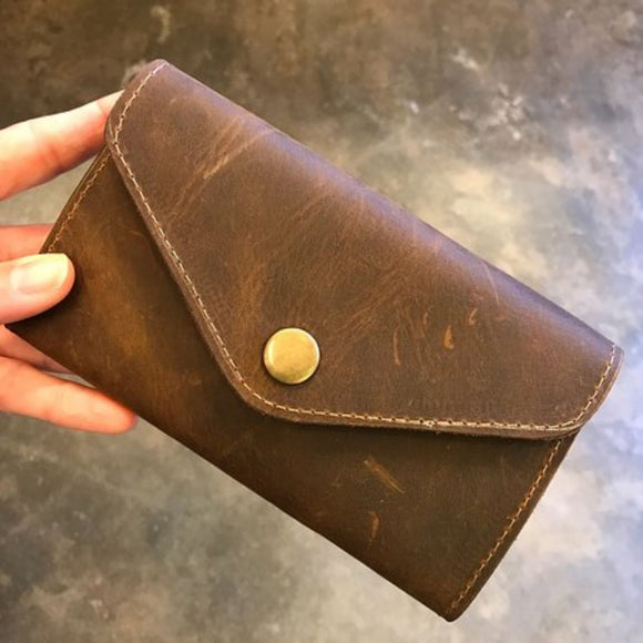 Buffalo Leather Coin Pouch
