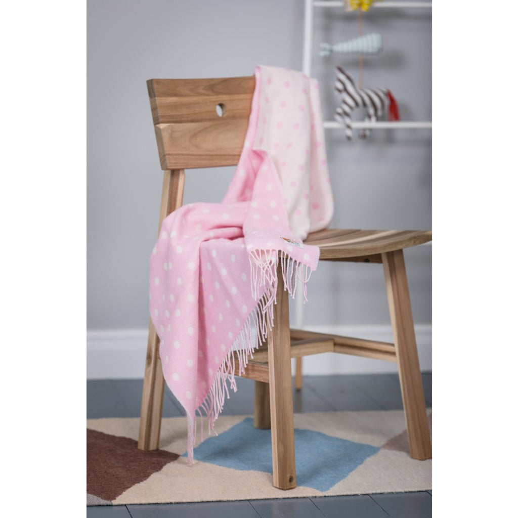 Foxford Baby Blanket Pink Spot
