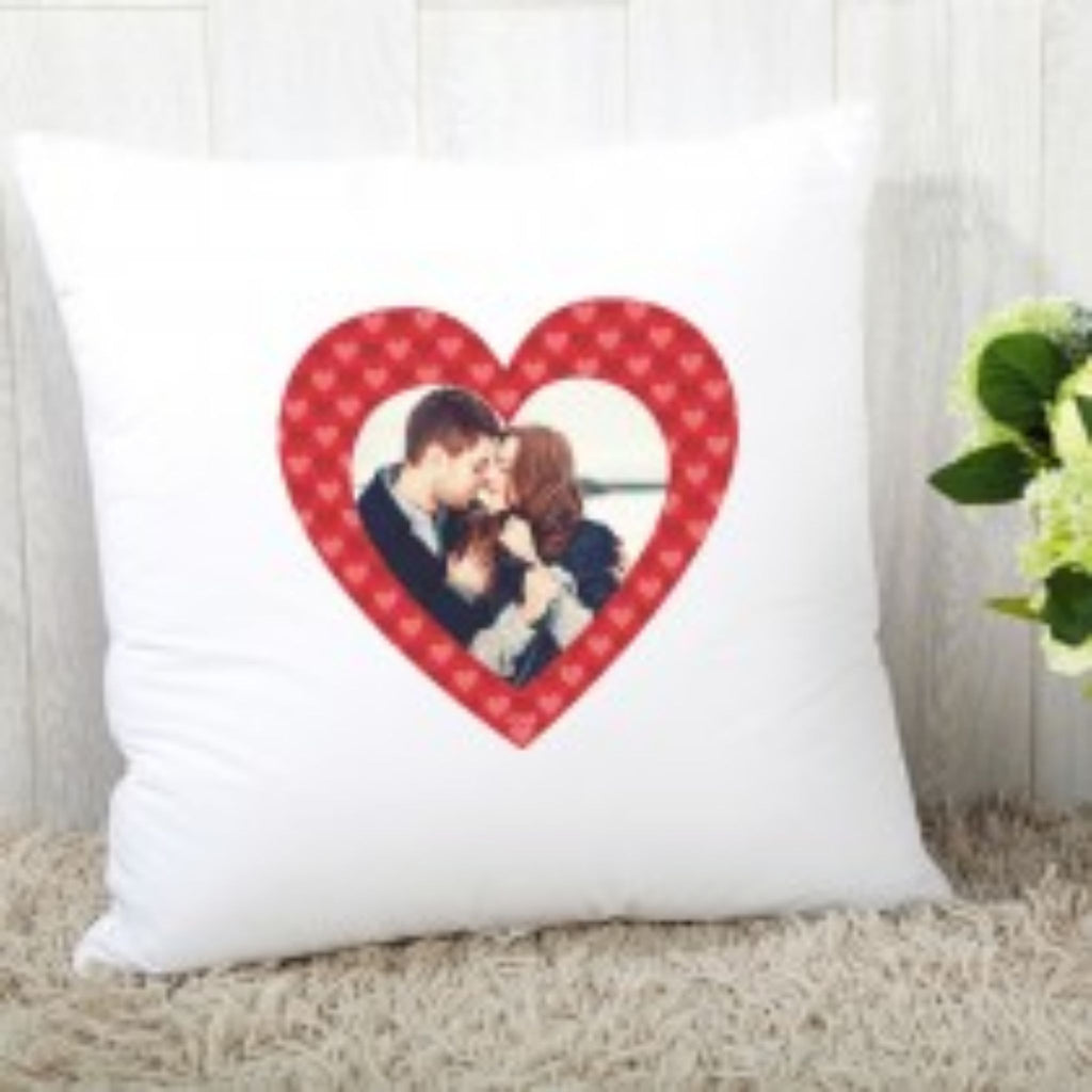 Personalised Fabric Cushion with Hearts