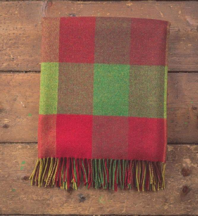 Foxford Throw Heritage 4 Block Check