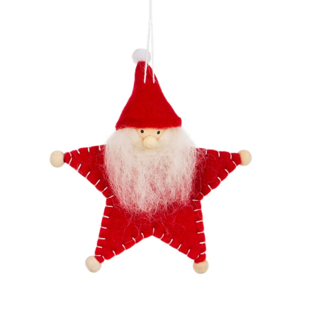 Wooly Santa Hanging Decoration