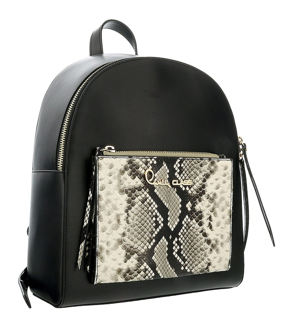 Roberto Cavalli Class Black Medium Structured Susan Backpack at 285.70