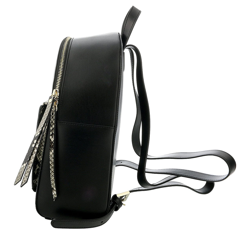 Roberto Cavalli Class Black Medium Structured Susan Backpack at