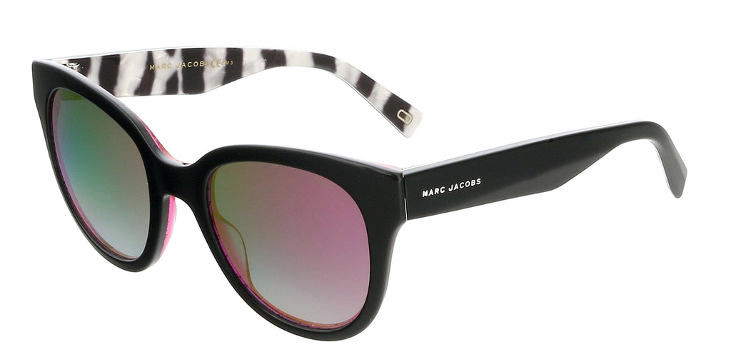 Marc Jacobs  Black/Fuschia Glitter Square Sunglasses