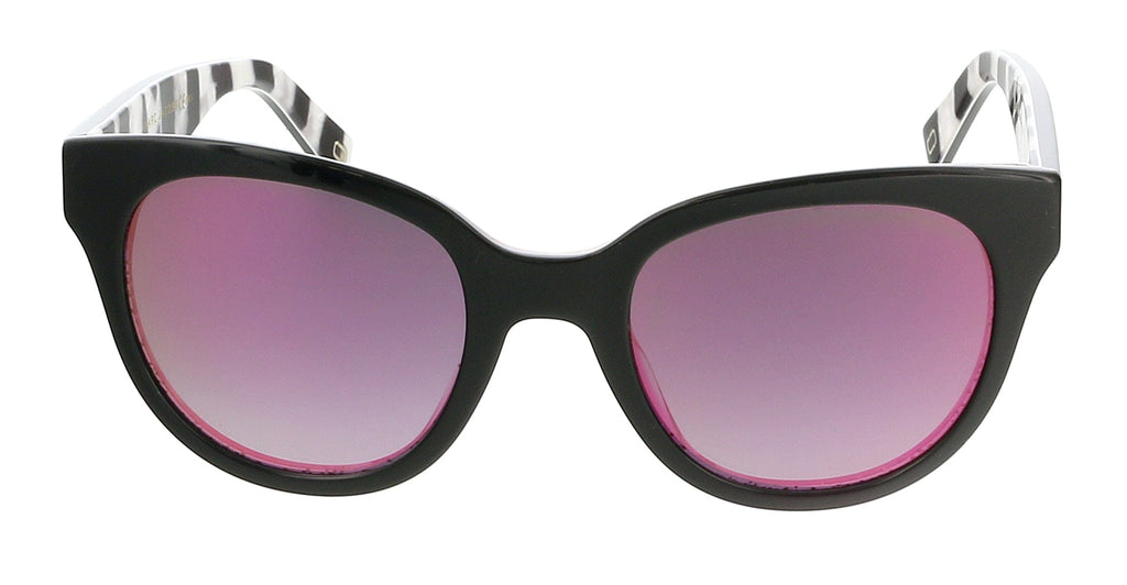 Marc Jacobs MARC231S 02PM Black/Fuschia Glitter Square Sunglasses