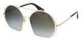 Marc Jacobs  Aged Light Gold Round Sunglasses