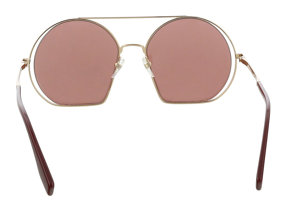 Marc Jacobs MARC325S 0NOA Gold Burgundy Round Sunglasses