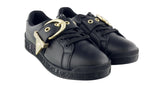 Versace Jeans Couture  Black Fashion Lace-Up Buckle Sneaker