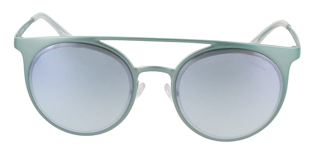 Emporio Armani 0EA2068 3244D6 Metallized Light Blue Round Sunglasses