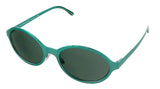 Burberry  Green Oval Sunglasses
