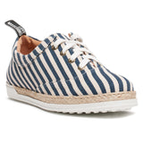 Love Moschino Blue/White Striped Lace Up Espadrilles