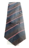 Missoni U5121 Burgundy/Pink Repp 100% Silk Tie at