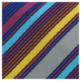 Missoni U8013 Gold/Blue Pencil Stripe 100% Silk Tie at