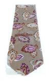 Missoni U1452 Khaki/Purple Chinoiserie 100% Silk Tie at