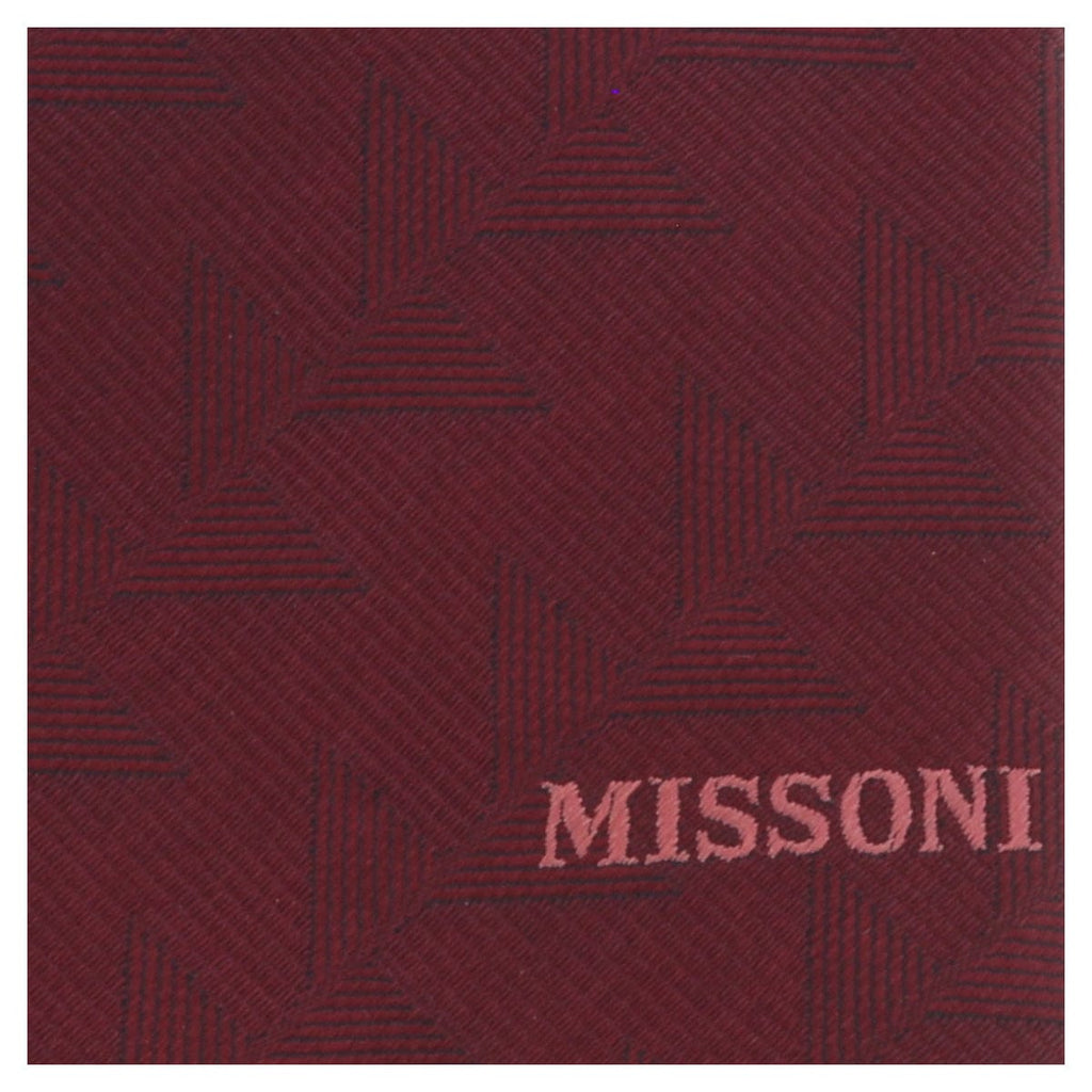 Missoni U5563 Maroon Abstract 100% Silk Tie at