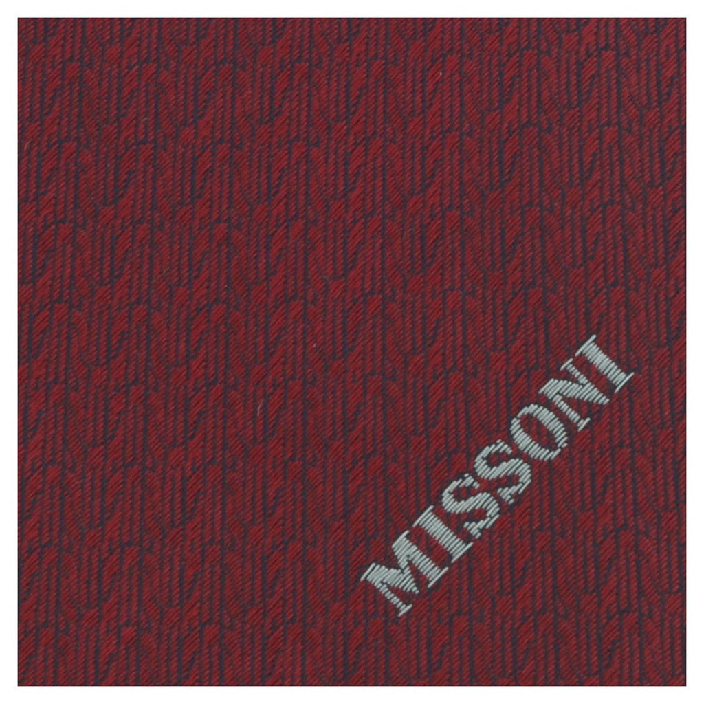 Missoni U5568 Red Barleycorn 100% Silk Tie at