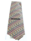 Missoni U4306 Gold/Silver Chevron 100% Silk Tie at