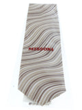 Missoni U4308 Cream/Brown Bengal Stripe 100% Silk Tie at