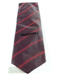 Missoni U4542 Red Regimental 100% Silk Tie at