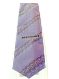 Missoni U4310 Purple Sharkskin 100% Silk Tie at