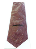 Missoni U4797 Red Graphic 100% Silk Tie at
