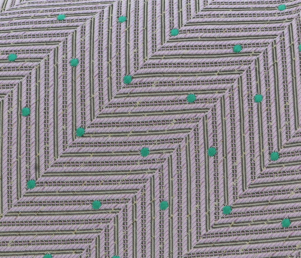 Missoni U4799 Lavender/Green Pin Dot 100% Silk Tie at