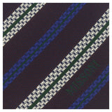 Missoni U5691 Regimental Plum/Electric Blue Pure Silk Tie