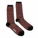 Missoni  Red/Silver Striped Boot Socks