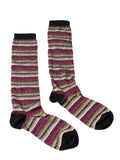 Missoni  Tan/Fuschia Boot Socks