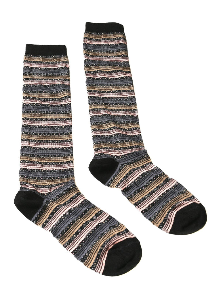 Missoni GM00CMD5220 0005 Tan/Pink Boot Socks