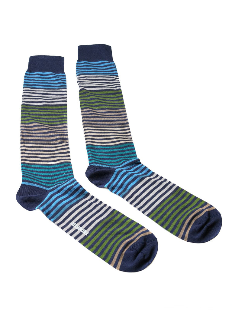 Missoni  Turquoise/Green Striped Knee Length Socks