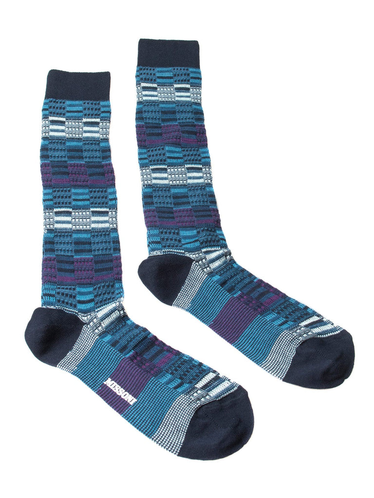 Missoni  Blue/Purple Knee Length Socks