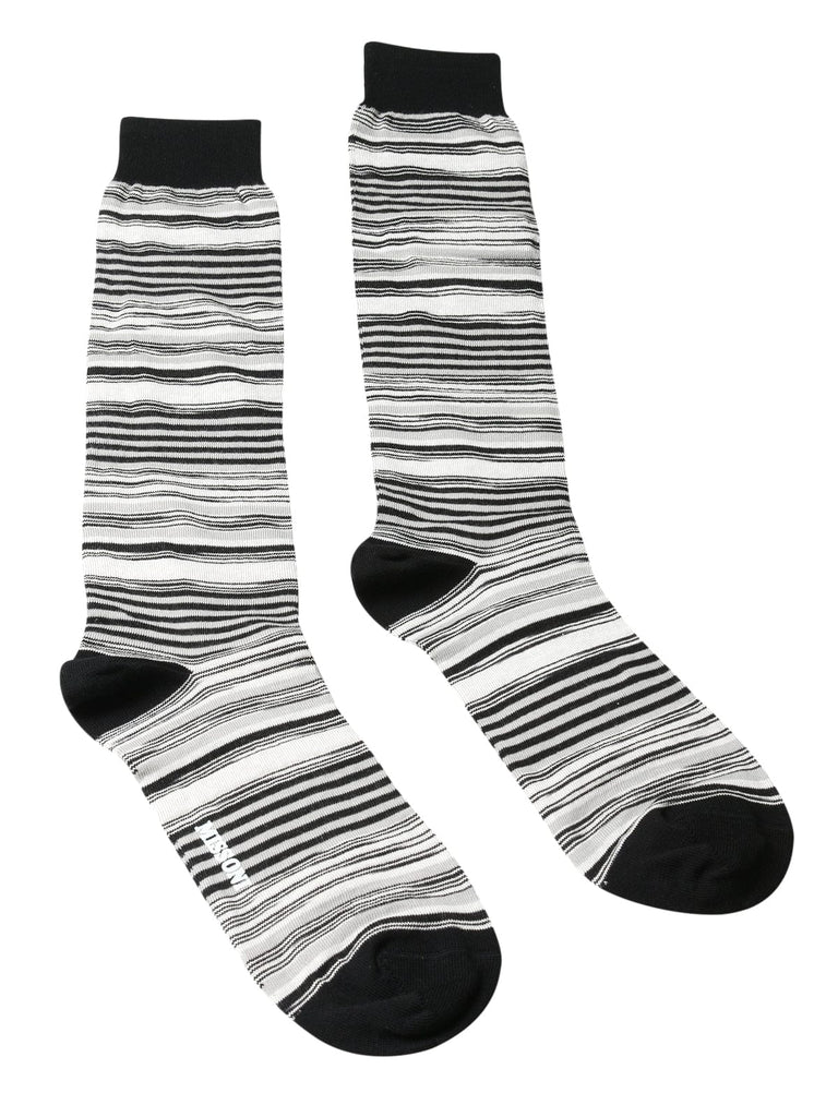 Missoni  Gray/Black Striped Knee Length Socks