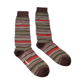 Missoni  Olive/Cream Mixed Stripe Knee Length Socks