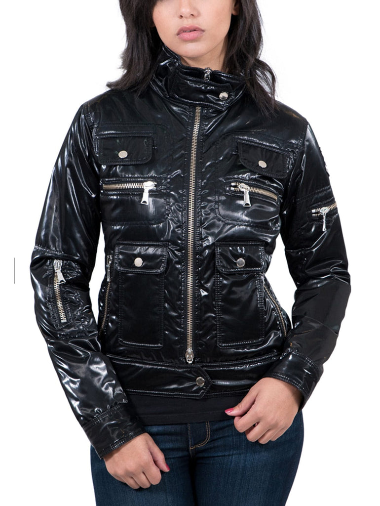 Williams Wilson  Black Padded Women's Cropped Jacket