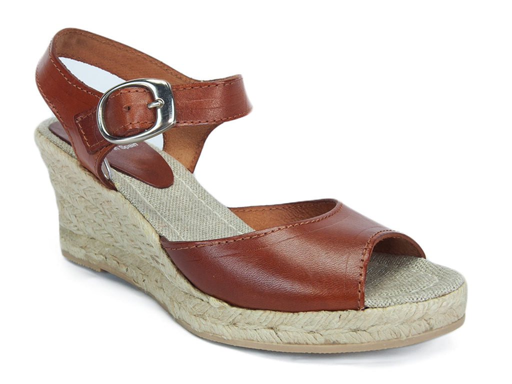 SKA  Tan Espadrille Strappy Wedge Sandals