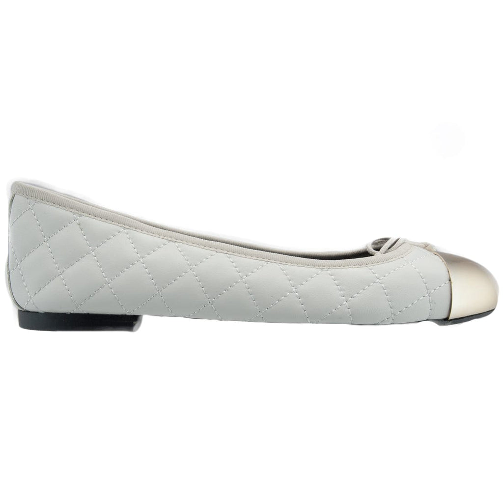 Bailarinas ELLA OFF White Quilted Ballerina Flats at