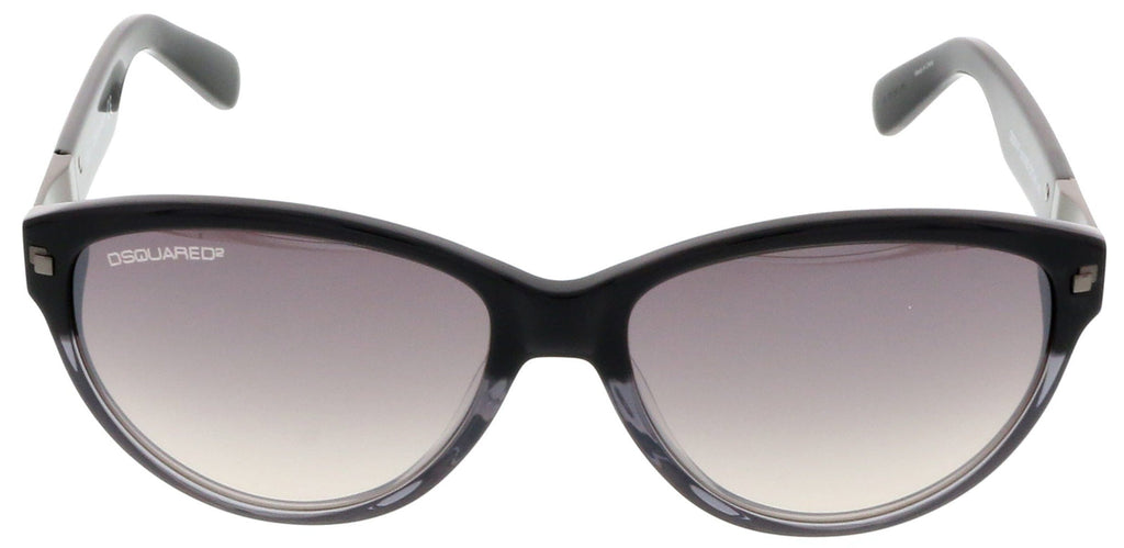 Dsquared DQ0147/S 05B Black Gradient Cat Eye Sunglasses at 57.13