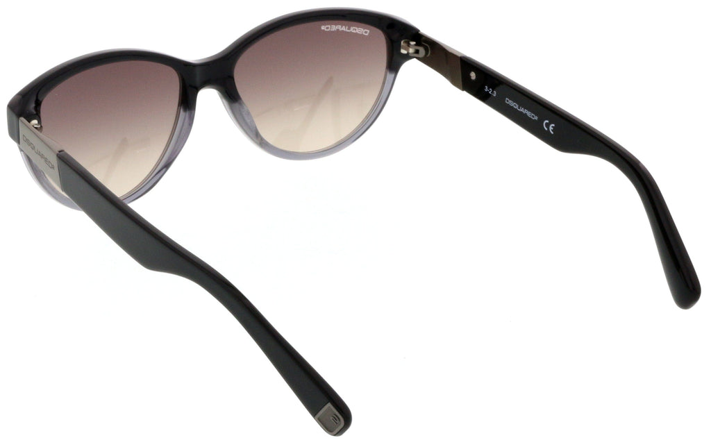 Dsquared DQ0147/S 05B Black Gradient Cat Eye Sunglasses at