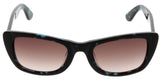 Just Cavalli  Brown/Blue Tortoise Rectangle Sunglasses