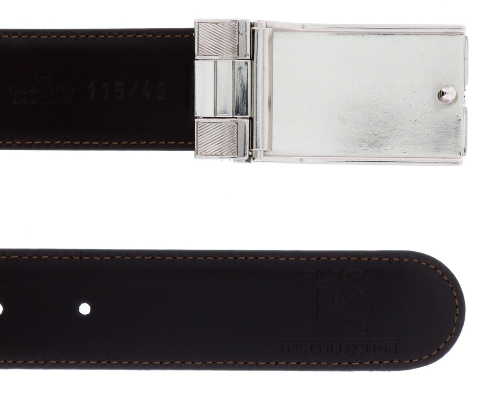 HS Collection HSB 4001  Black/Brown Reversible/Adjustable Mens Belt