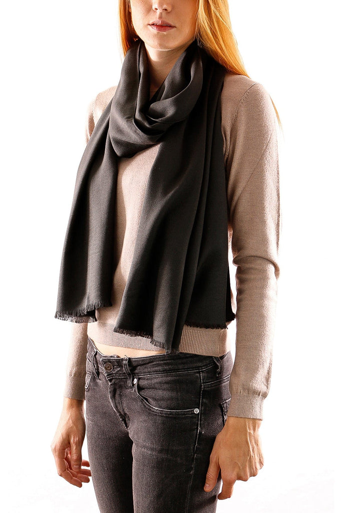 Gianfranco Ferre Military Green Pashmina Scarf at