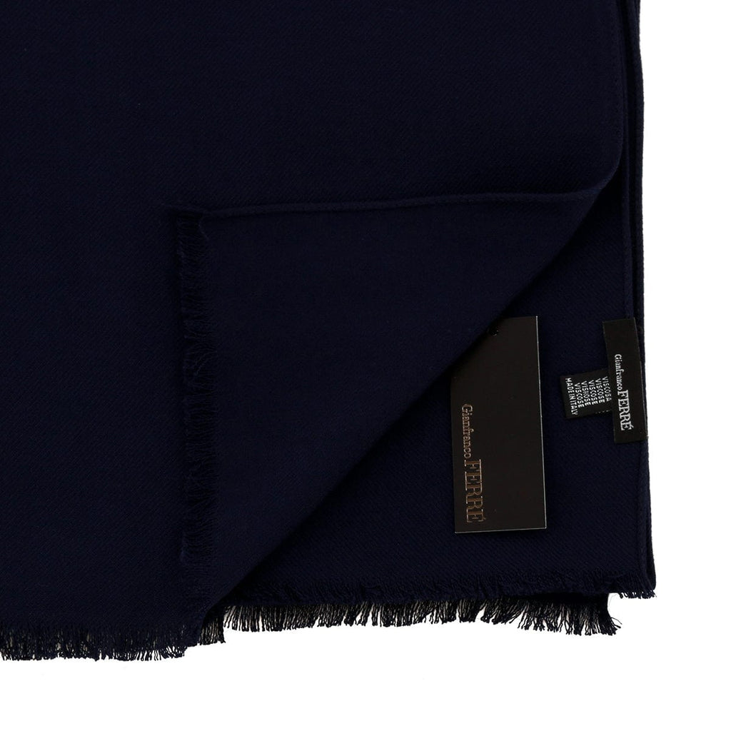 Gianfranco Ferre Navy Blue Pashmina Scarf at
