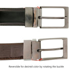 Romeo Gigli C956/3R MORO.NERO Brown/Black Leather Adjustable Mens Belt